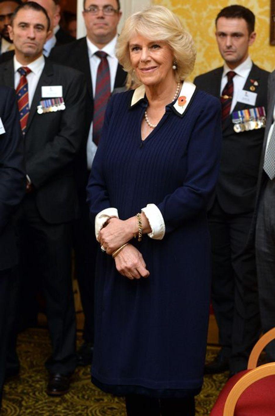 La duchesse de Cornouailles Camilla à Londres, le 4 février 2016