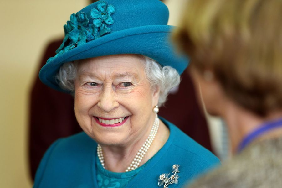La reine Elizabeth II au Norfolk Hospice à Hillington, le 4 février 2016