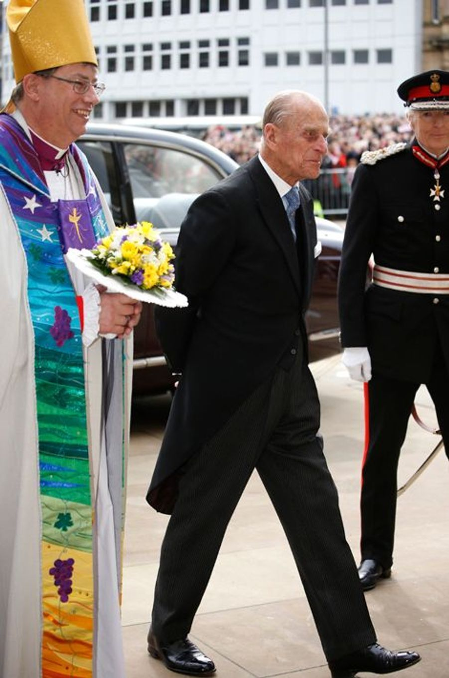 Philip Mountbatten au Maundy Service du Jeudi Saint à Sheffield, le 2 avril 2015