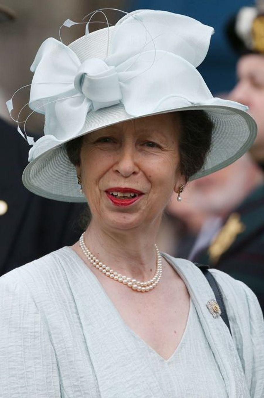 La princesse Anne au palais de Holyrood à Edimbourg, le 1er juillet 2015