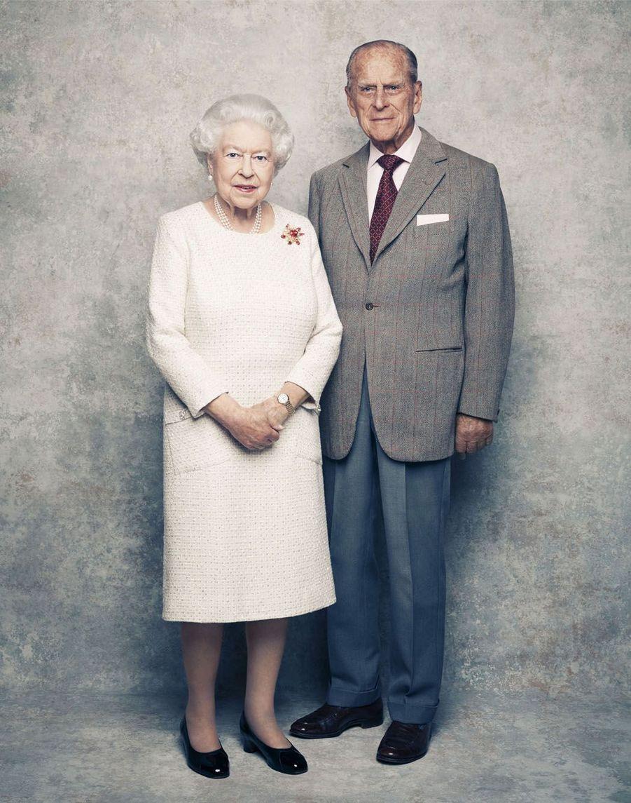 Un des clichés pris pour célébrer les 70 ans de mariage de la reine Elizabeth avec le prince Philip.