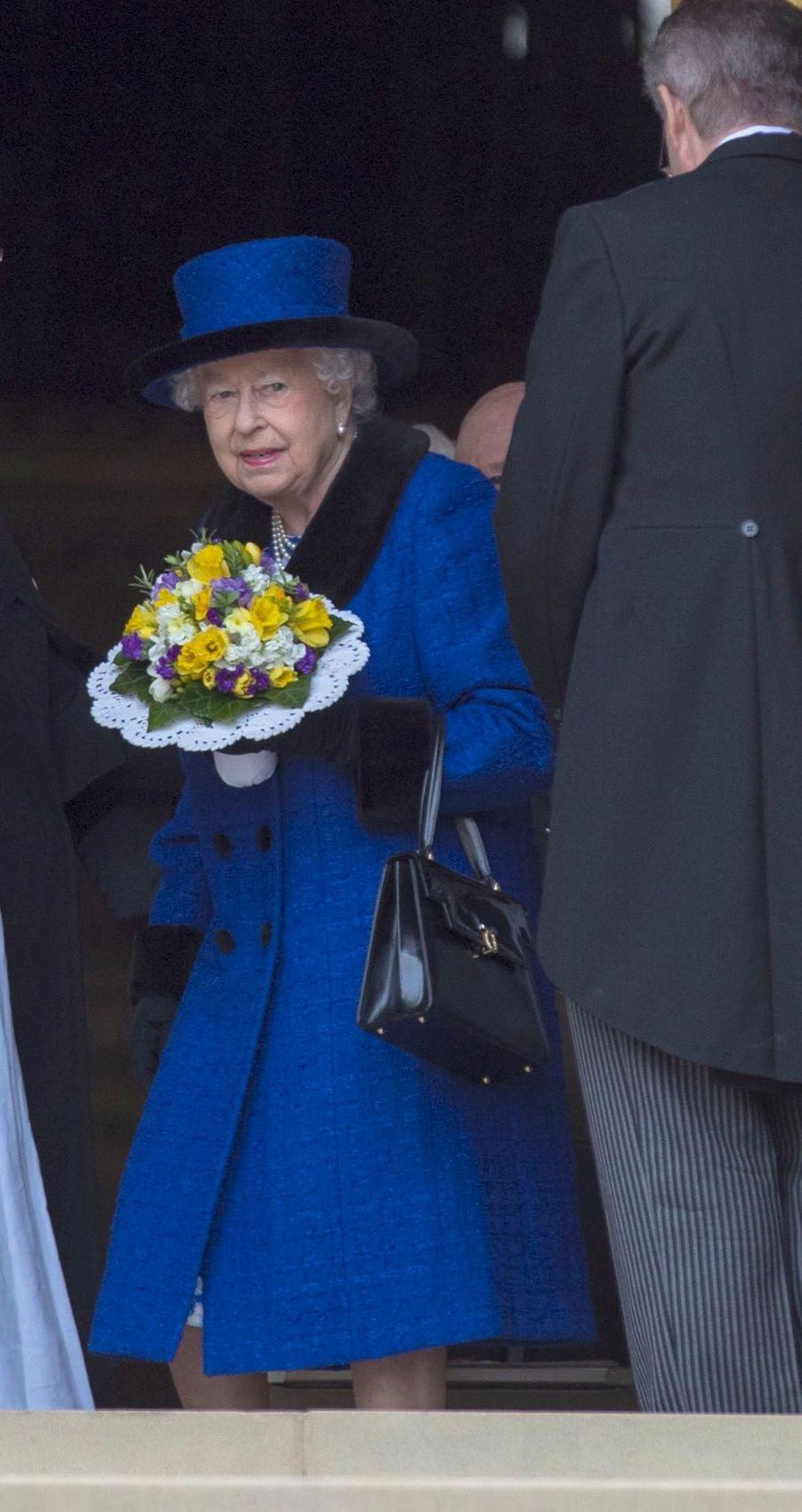 La Reine D'Angleterre Au Maundy Service À Windsor 10