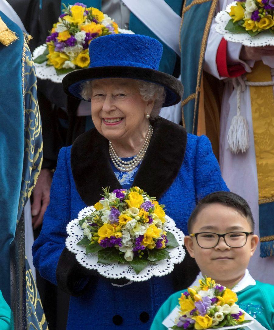 La Reine D'Angleterre Au Maundy Service À Windsor 12