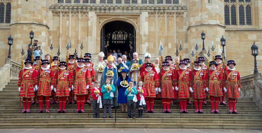 La Reine D'Angleterre Au Maundy Service À Windsor 9