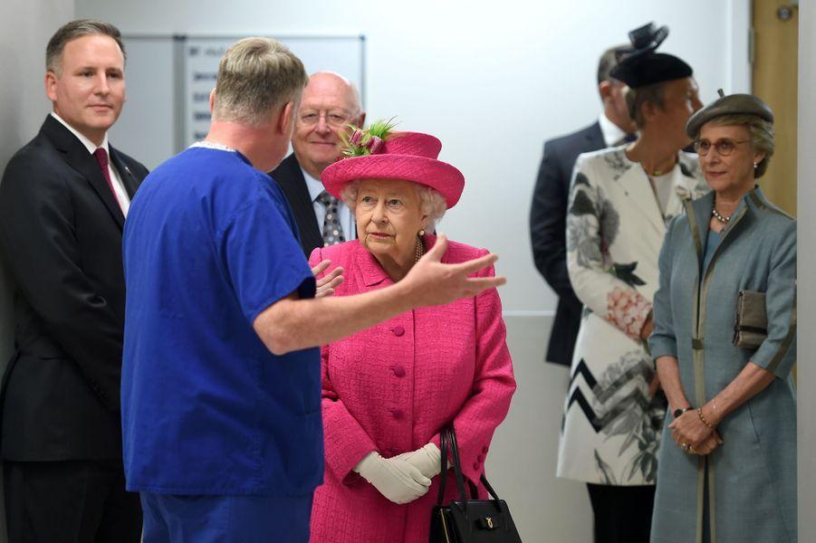 La reine Elizabeth II et la duchesse de Gloucester à Cambridge, le 9 juillet 2019