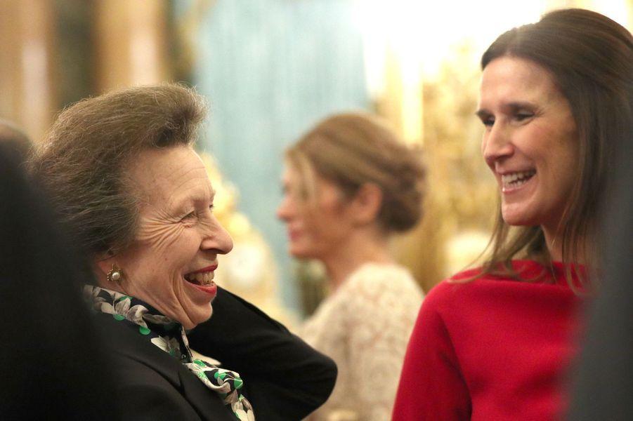 La princesse Anne avec la nouvelle Première ministre belgeSophie Wilmès à Londres, le 3 décembre 2019