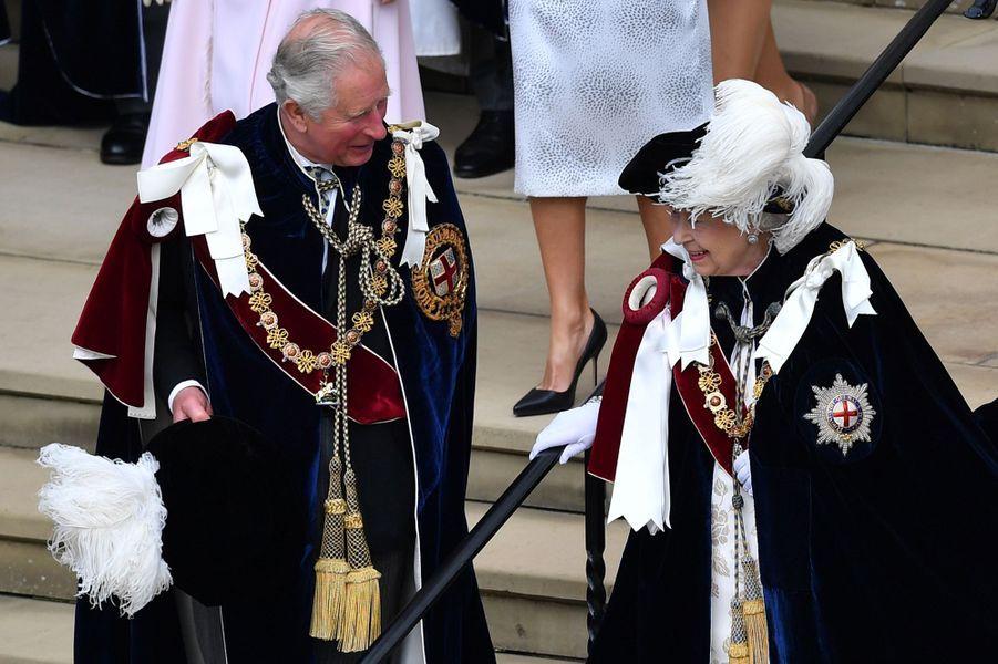 La reine Elizabeth II et le prince Charles à Windsor, le 17 juin 2019