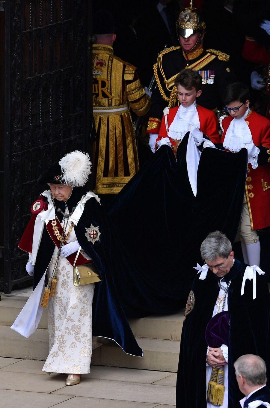 La reine Elizabeth II à Windsor, le 17 juin 2019
