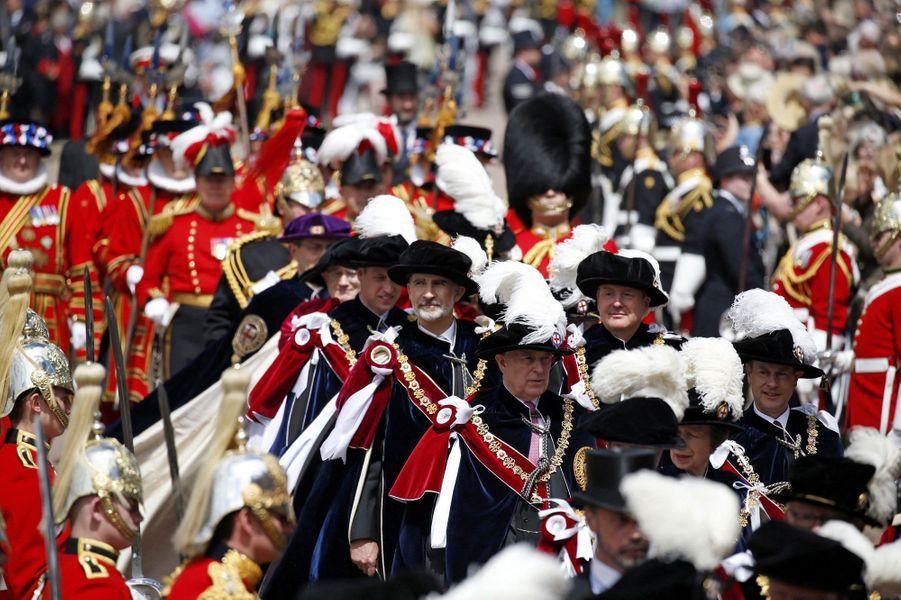 La procession de l'Ordre de la Jarretière à Windsor, le 17 juin 2019