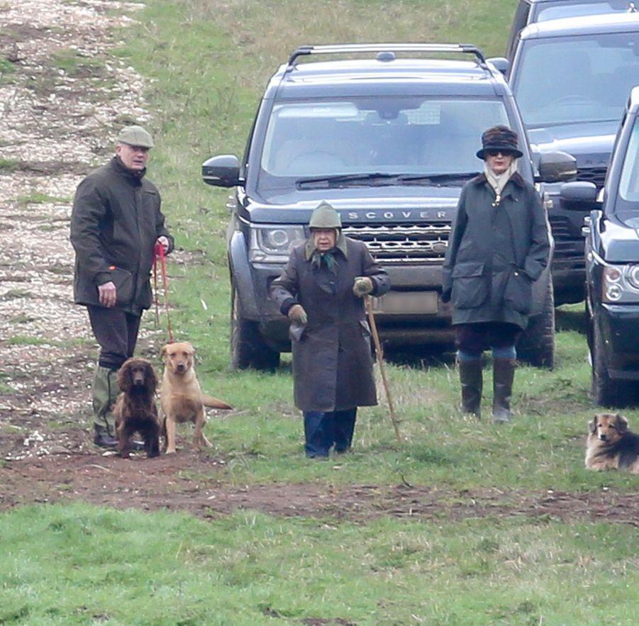 La reine Elizabeth II sur son domaine de Sandringham, le 25 janvier 2019