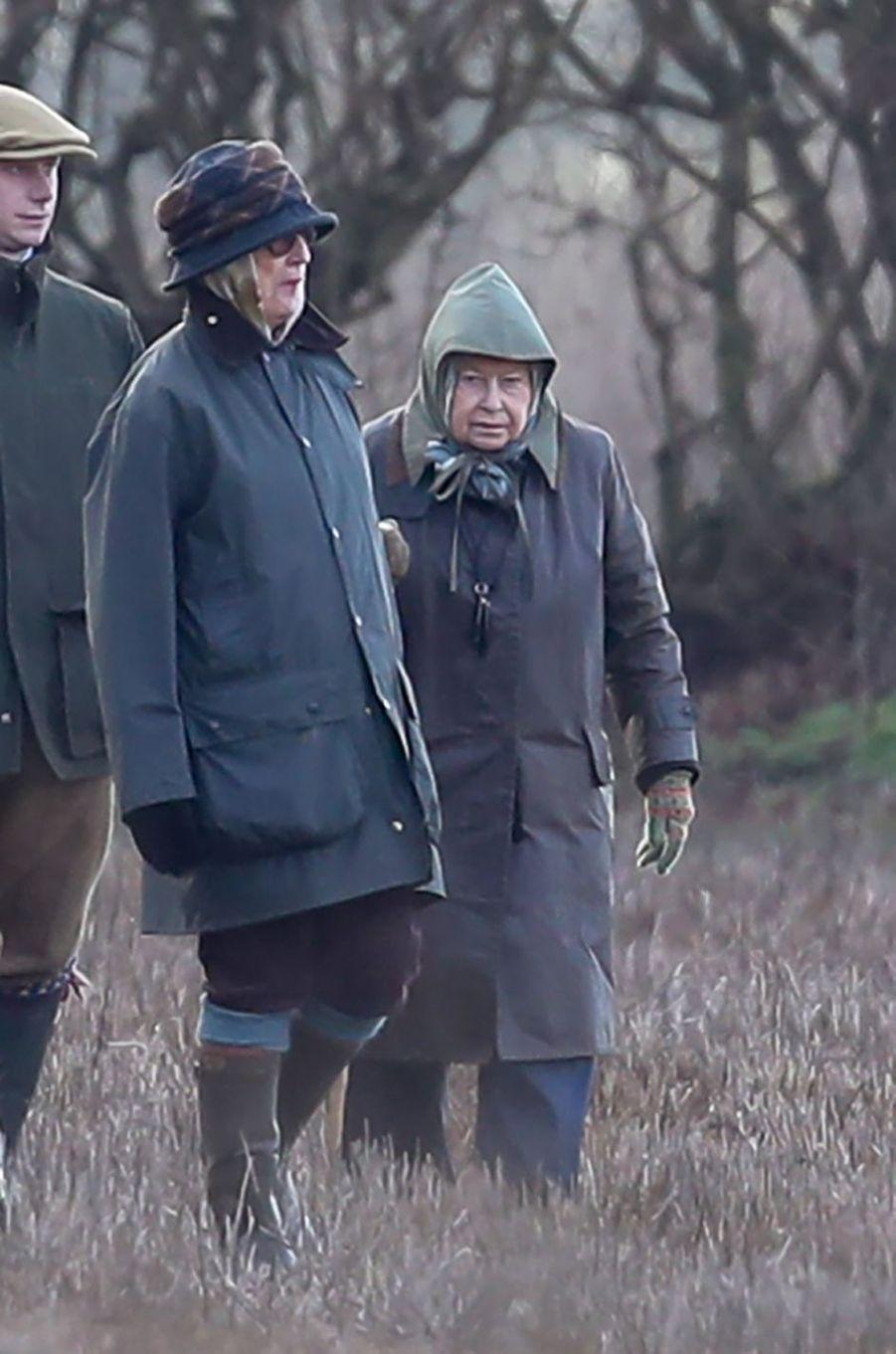 La reine Elizabeth II à Sandringham, le 25 janvier 2019