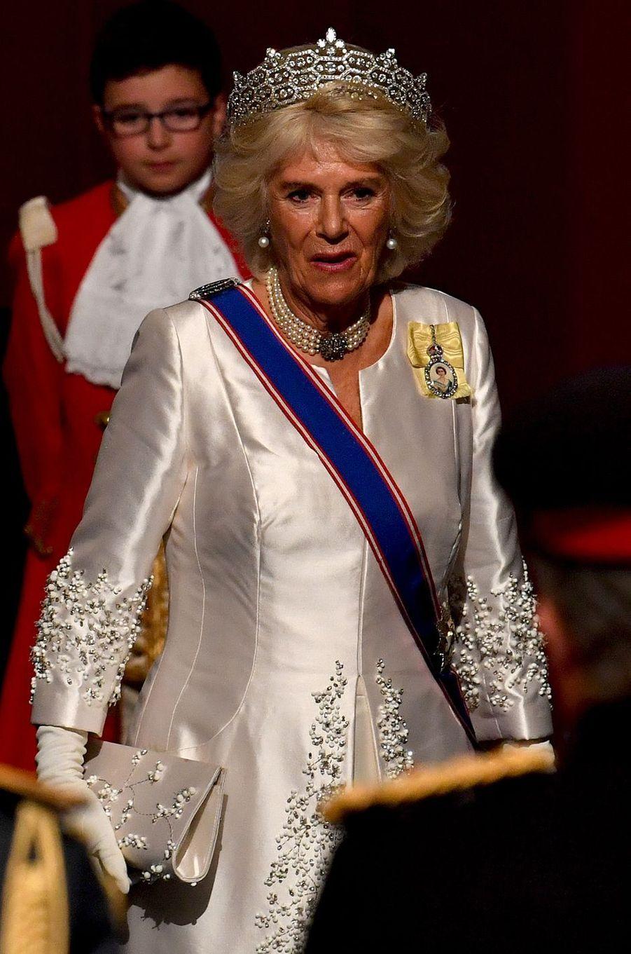 La duchesse de Cornouailles Camilla à Londres, le 14 octobre 2019