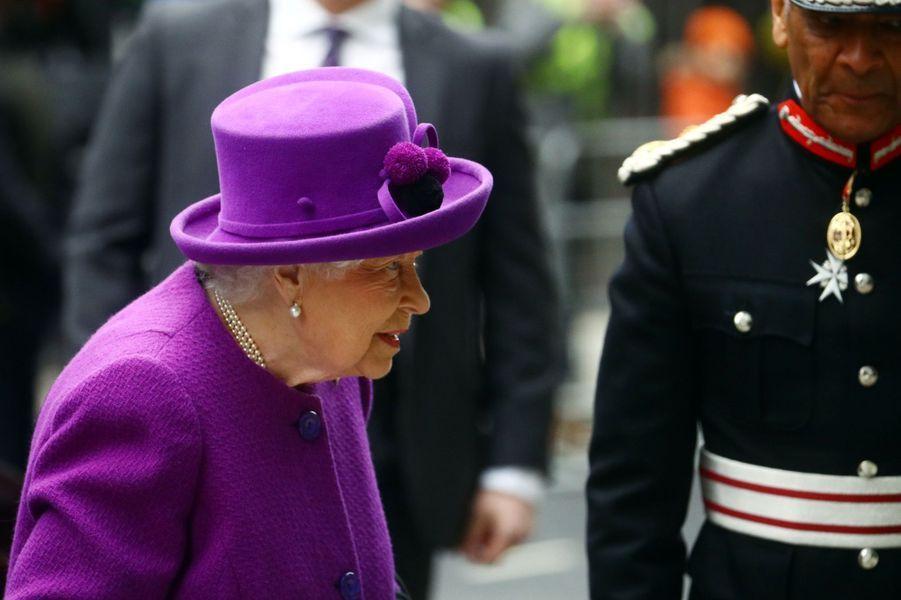 La reine Elizabeth II, le 19 février 2020 à Londres