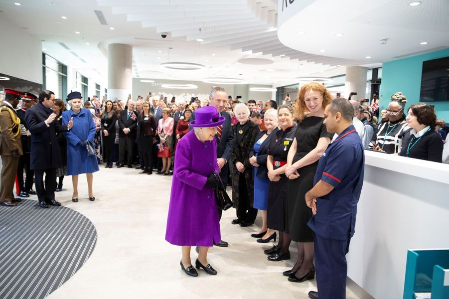 La reine Elizabeth II à Londres, le 19 février 2020