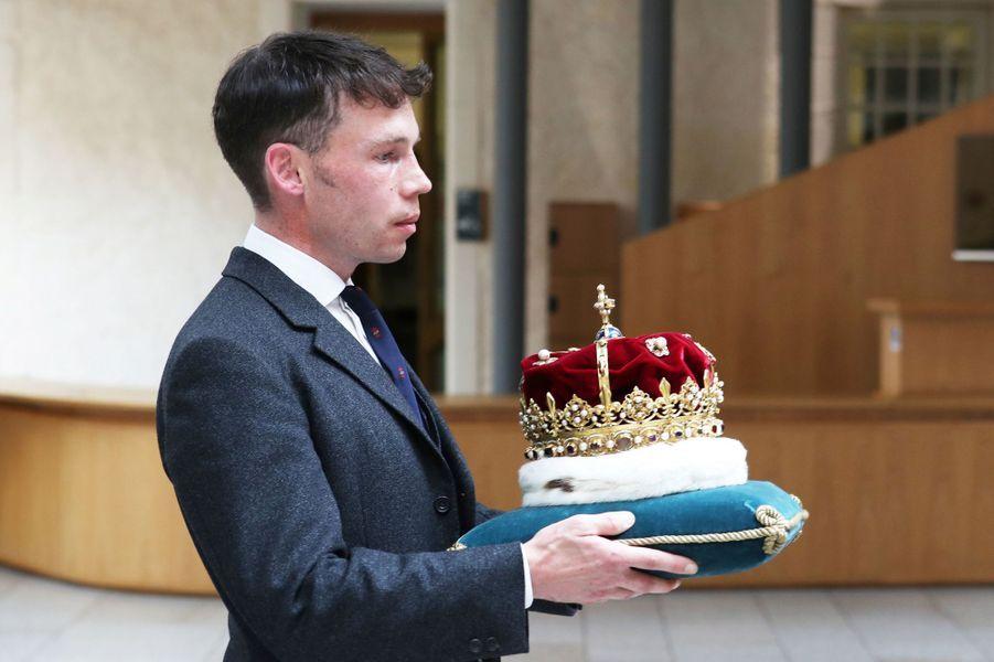 La couronne de l'Ecosse, à Edimbourg le 29 juin 2019