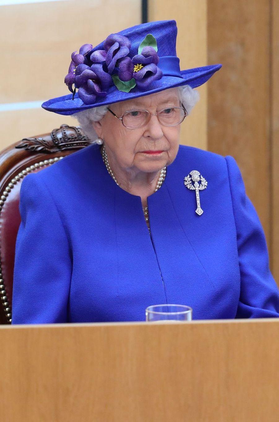 La reine Elizabeth II à Edimbourg, le 29 juin 2019