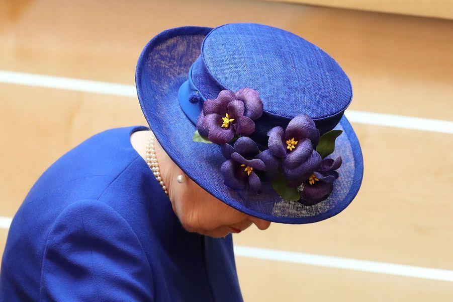 Le chapeau de la reine Elizabeth II à Edimbourg, le 29 juin 2019