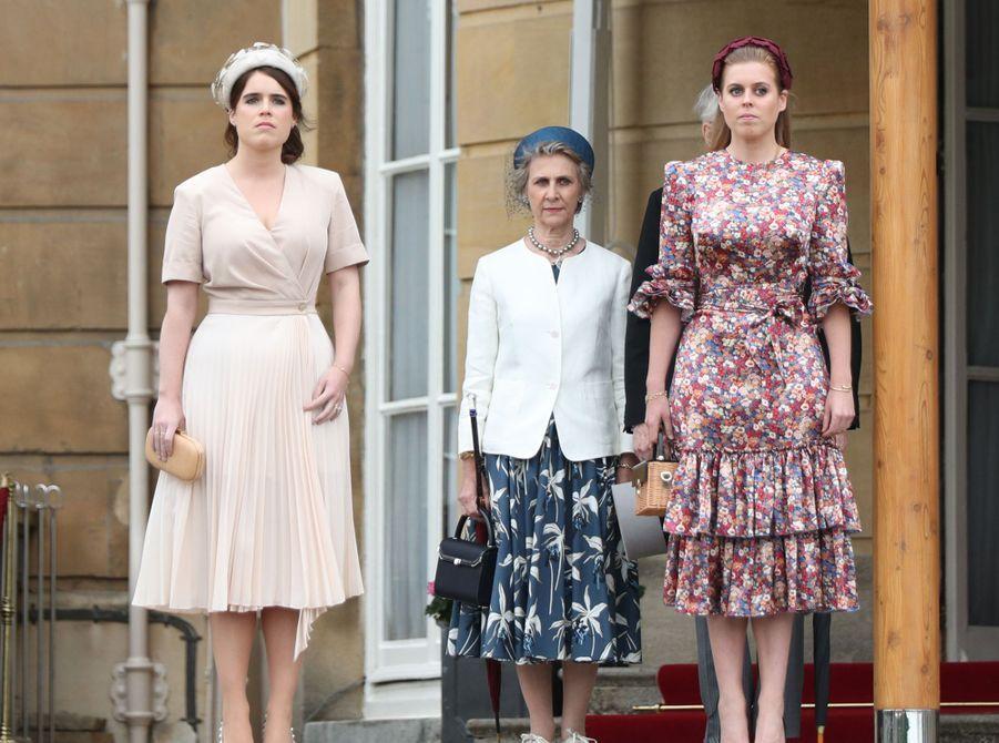 Les princesses Eugenie et Beatrice d'York avec le duc et la duchesse de Gloucester à Londres, le 29 mai 2019