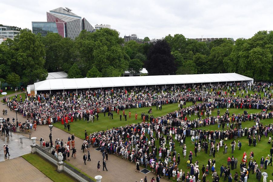 Garden party dans les jardins de Buckingham Palace à Londres, le 29 mai 2019