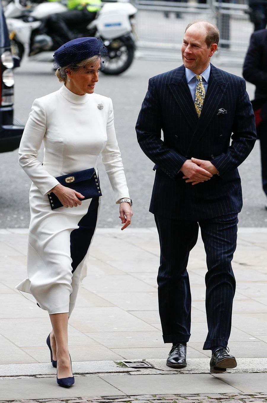 La comtesse Sophie de Wessex et le prince Edward à l'Abbaye de Westminster à Londres, le 9 mars 2020