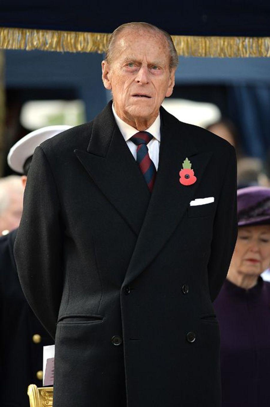 Philip Mounbatten à l'inauguration du Flanders Fields Memorial Garden à Londres, le 6 novembre 2014