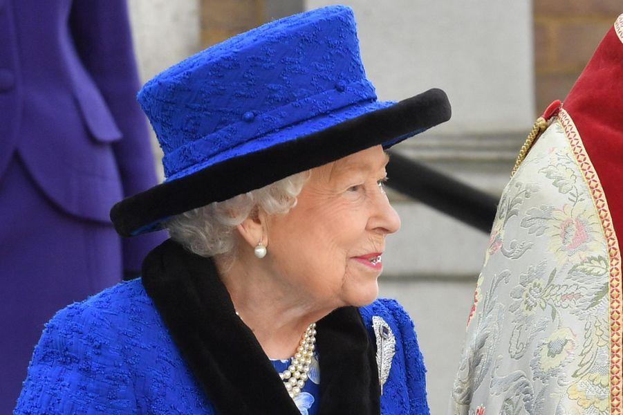 La reine Elizabeth II de sortie à Londres, le 22 février 2019