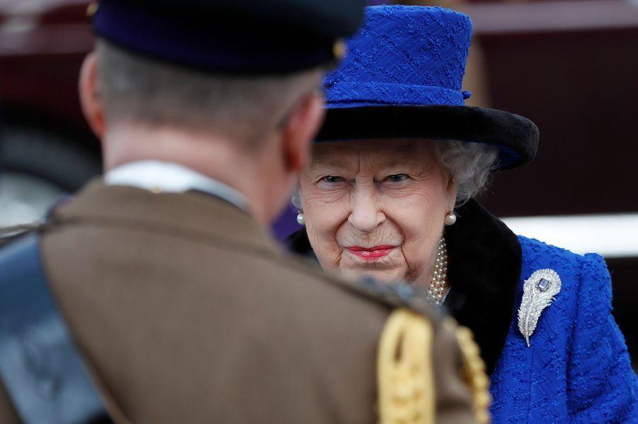 La reine Elizabeth II à Londres, le 22 février 2019