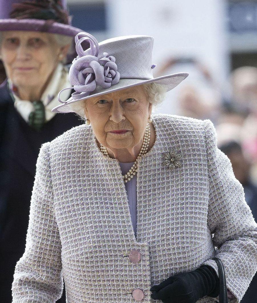La reine Elizabeth II, le 19 octobre 2019 sur l'hippodrome d'Ascot