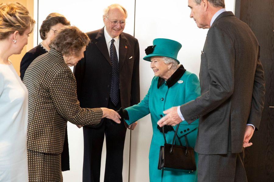 La reine Elizabeth II dans la City à Londres, le 7 novembre 2018