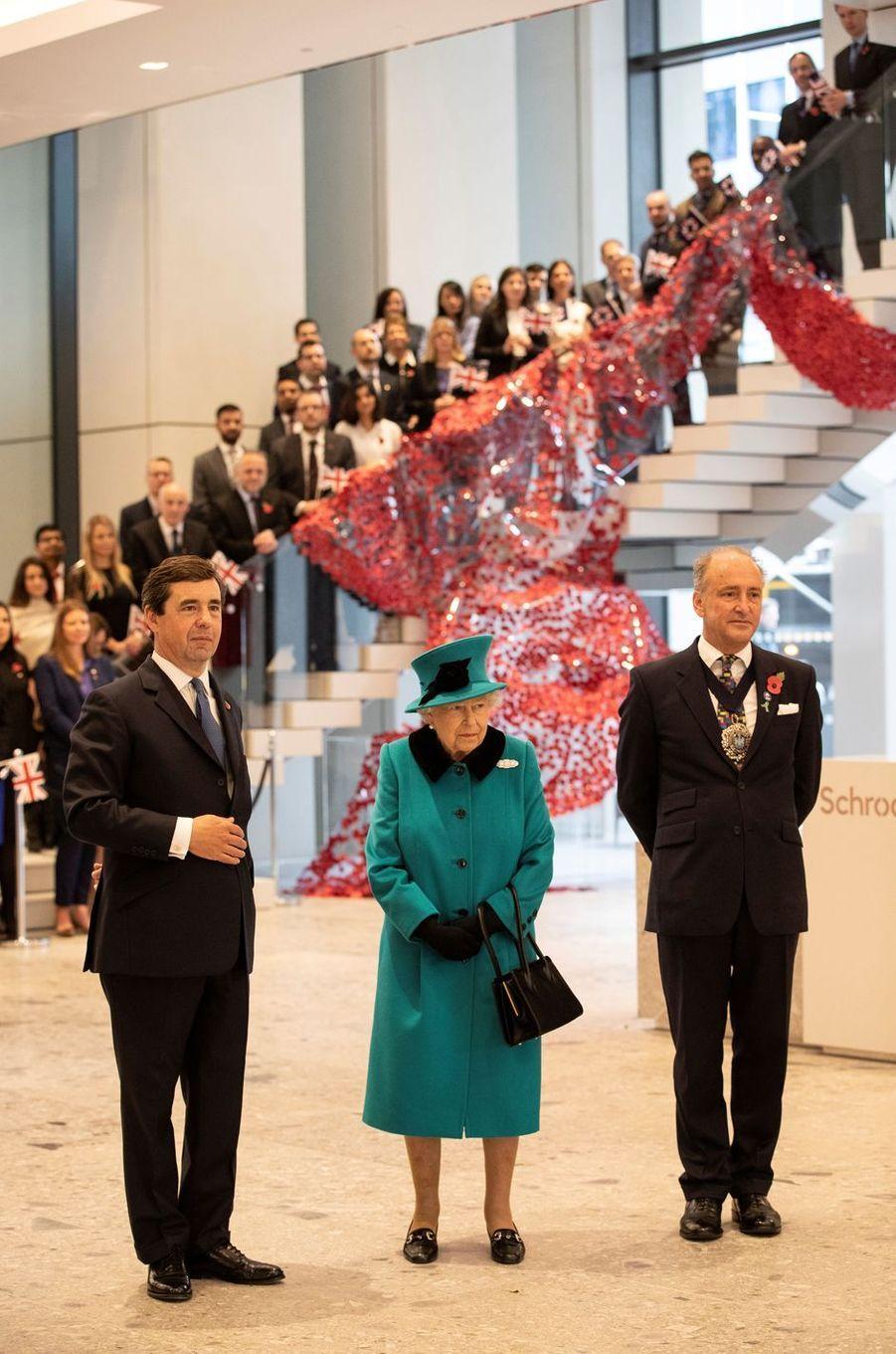 La reine Elizabeth II à Londres, le 7 novembre 2018