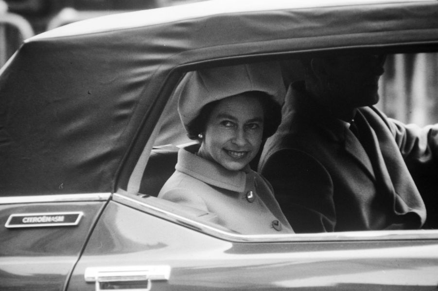La reine Elizabeth II en France, le 16 mai 1972