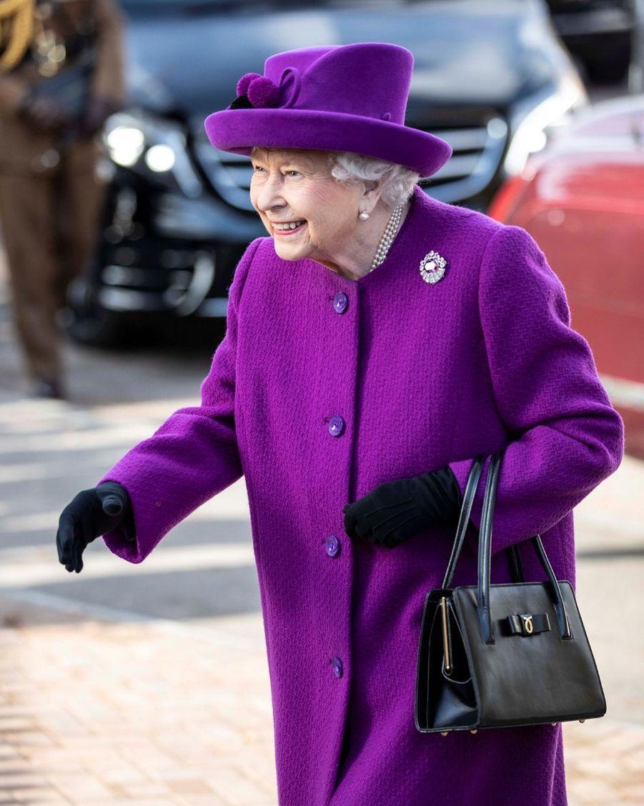 La reine Elizabeth II à Aylesford dans le Kent, le 6 novembre 2019