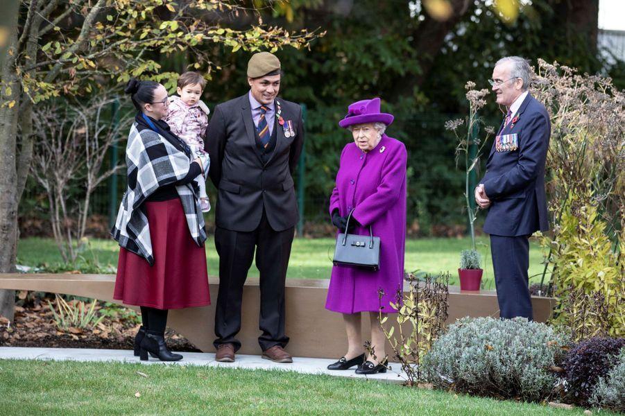 La reine Elizabeth II à Aylesford, le 6 novembre 2019