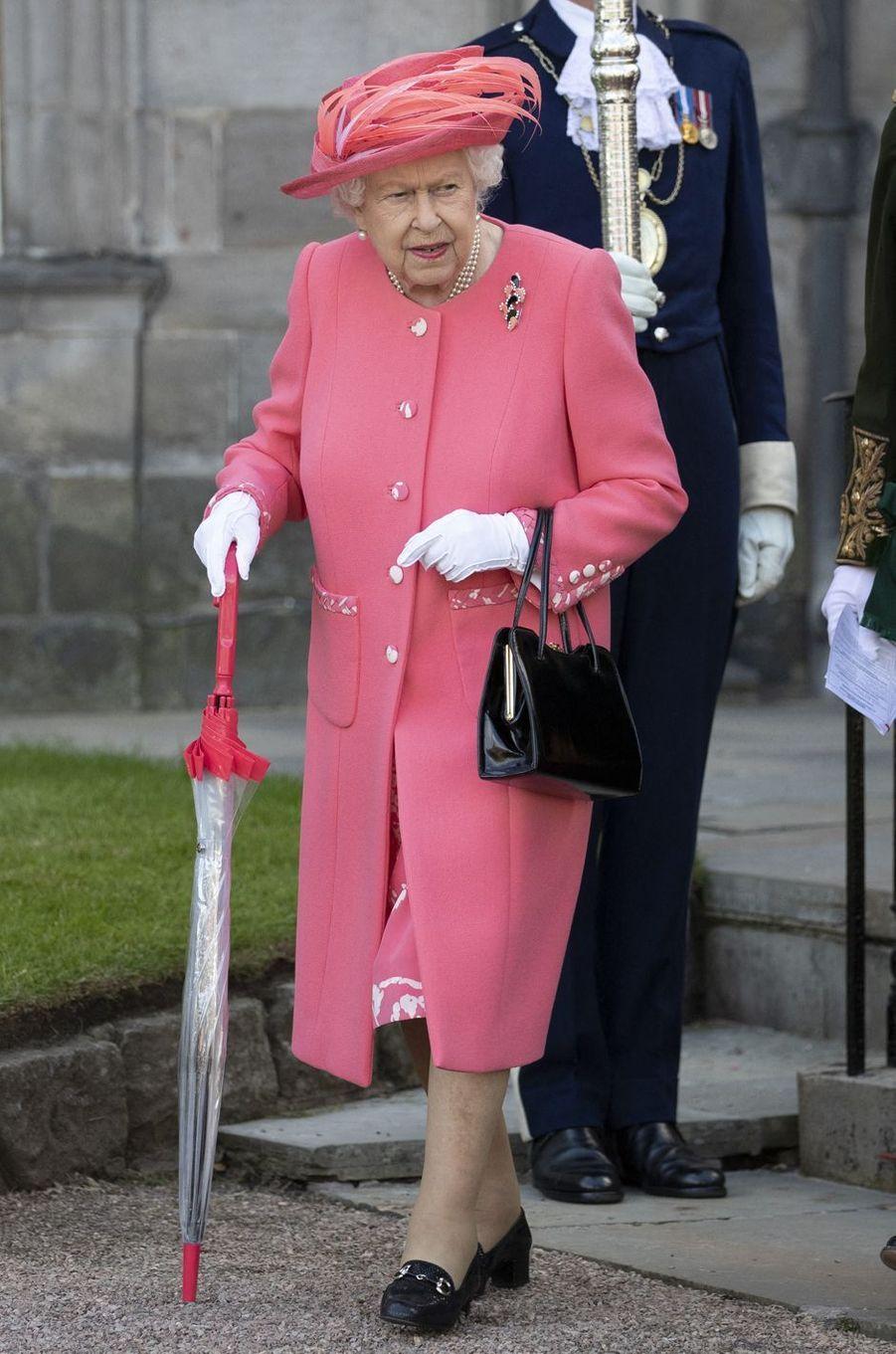 La reine Elizabeth au palais de Holyroodhouse à Edimbourg, le 3 juillet 2019