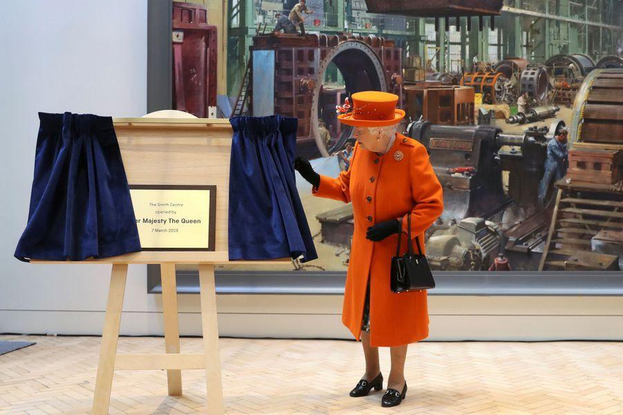 La reine Elizabeth II à Londres, le 7 mars 2019