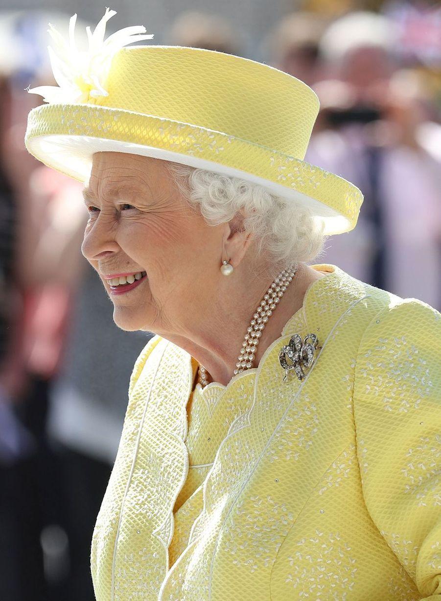 La reine Elizabeth II à Cumbernauld en Ecosse, le 28 juin 2019