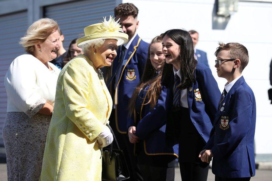 La reine Elizabeth II à Cumbernauld, le 28 juin 2019