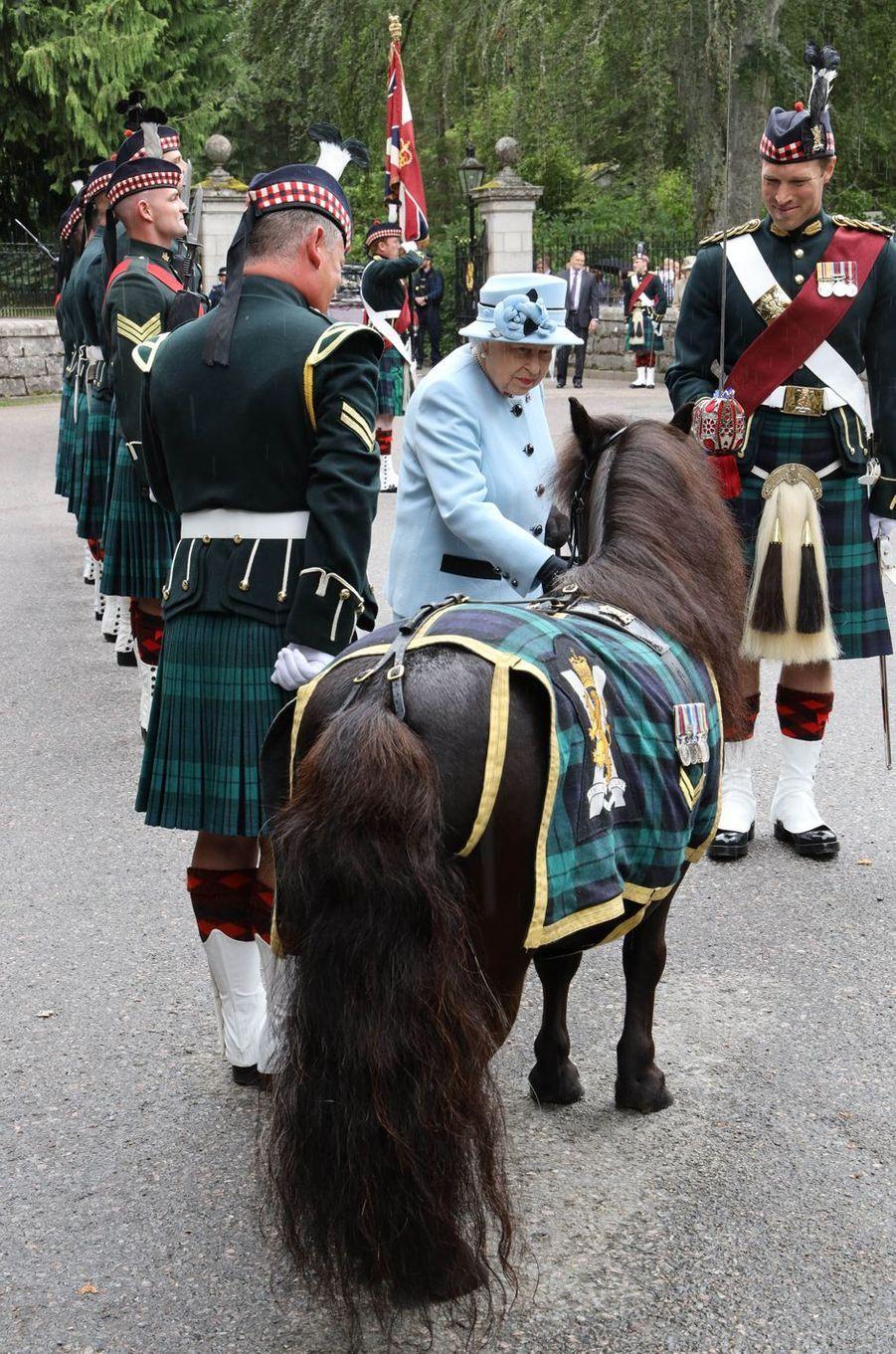 La reine Elizabeth II à Balmoral, le 6 août 2019