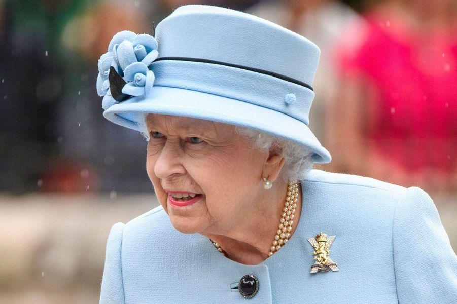 Le chapeau de la reine Elizabeth II à Balmoral, le 6 août 2019
