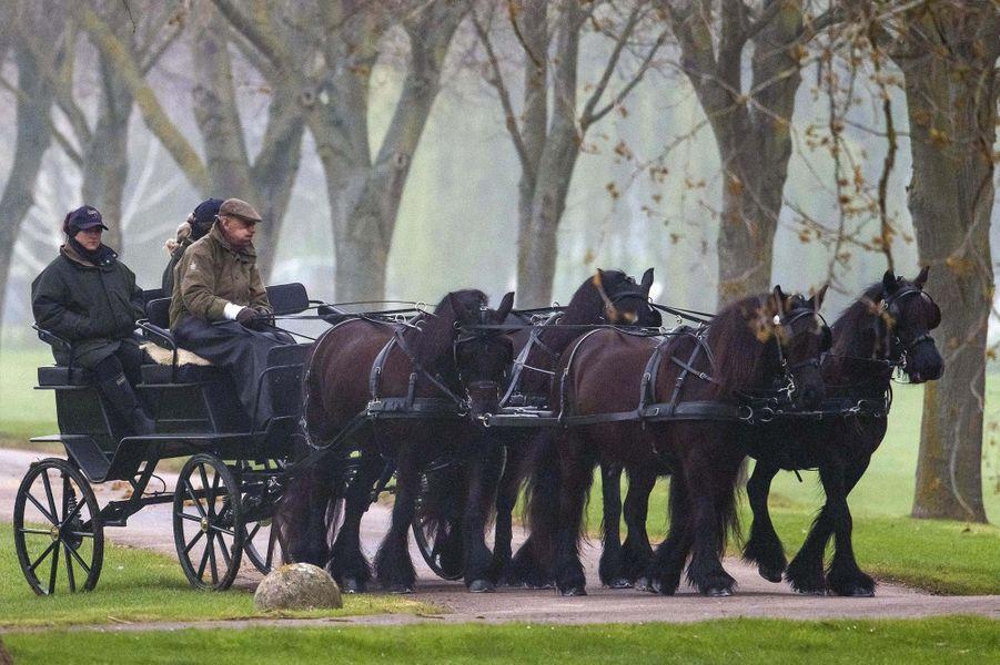 Le prince Philip à Windsor, le 8 avril 2019