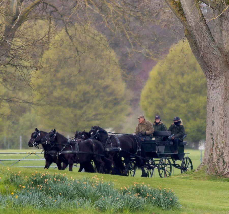 Le prince Philip à Windsor, le 4 avril 2019