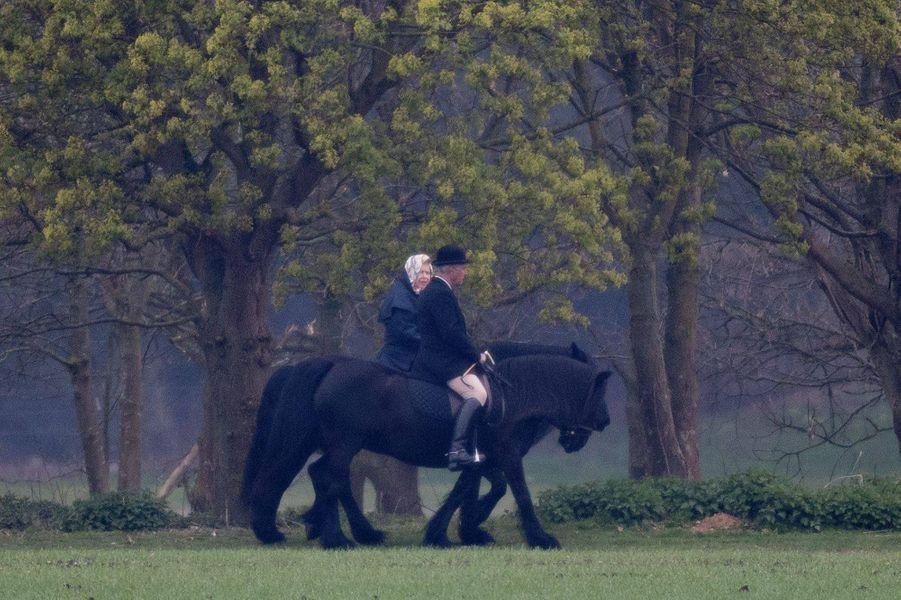 La reine Elizabeth II à Windsor, le 8 avril 2019