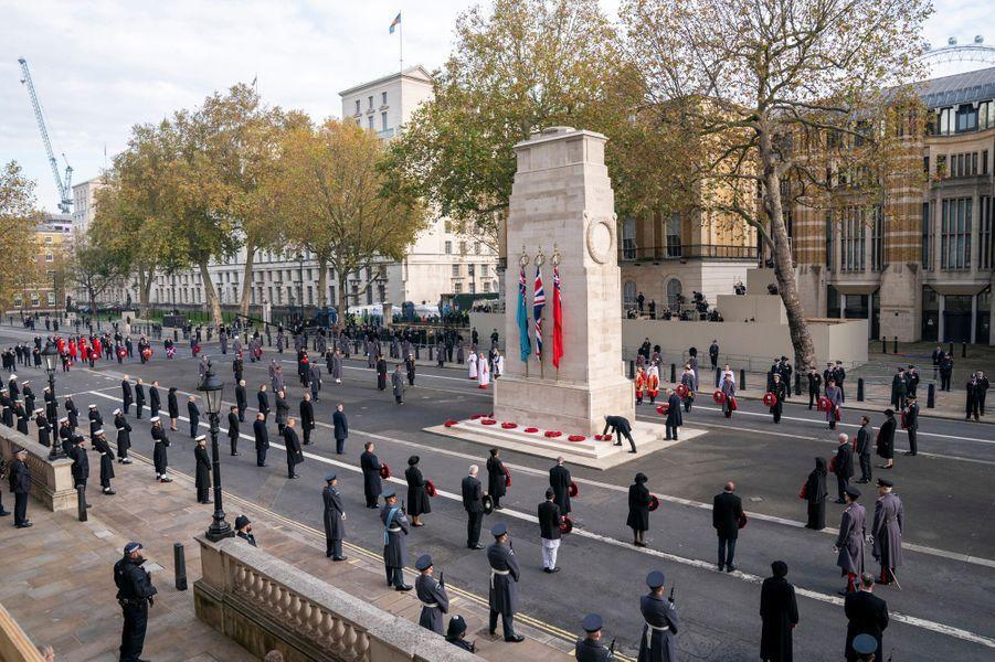 Cérémonie du Remembrance Sunday à Londres, le 8 novembre 2020