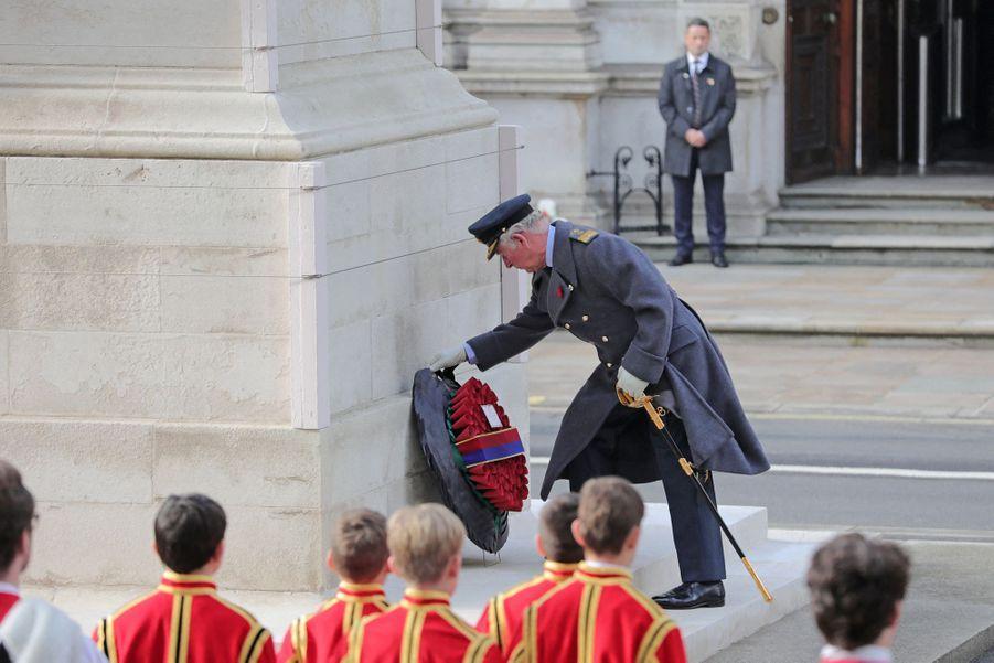 Le prince Charles à Londres, le 8 novembre 2020