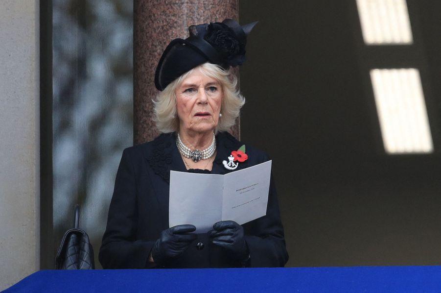 La duchesse de Cornouailles Camilla à Londres, le 8 novembre 2020
