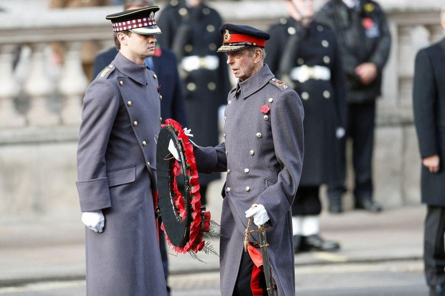 Le duc de Kent à Londres, le 8 novembre 2020