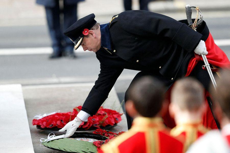 Le prince Edward à Londres, le 8 novembre 2020