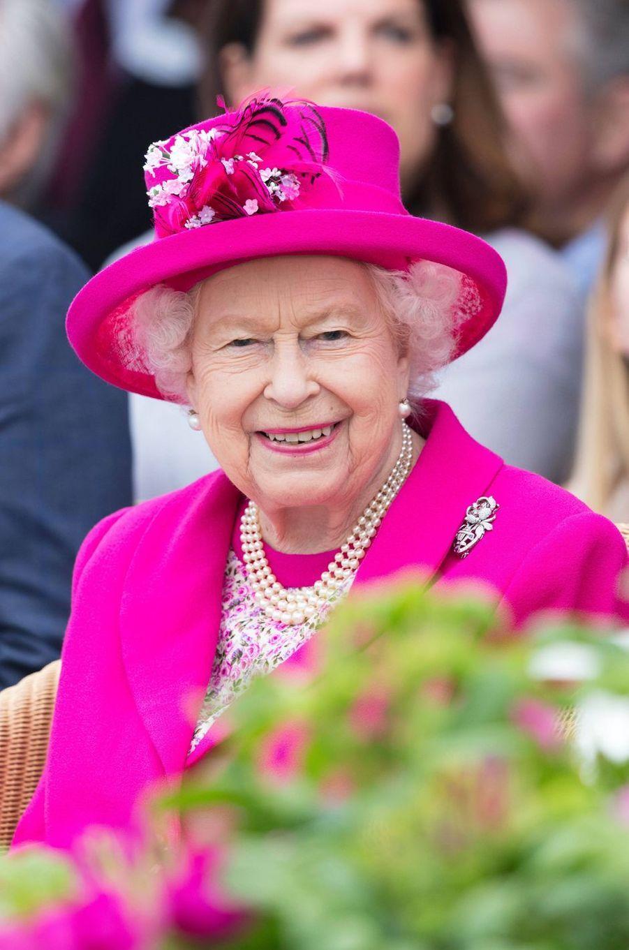 La reine Elizabeth II au Royal Windsor Cup à Windsor, le 23 juin 2019