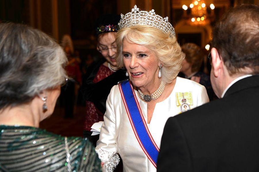 La duchesse de Cornouailles Camilla à Londres, le 4 décembre 2018