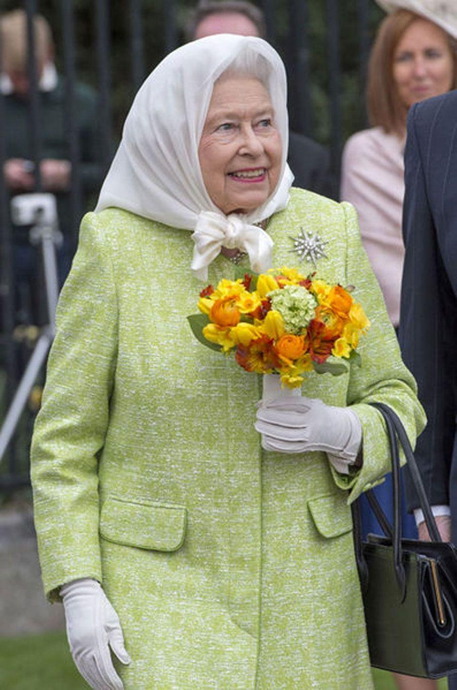 Elizabeth II, le jour de ses 90 ans, le 21 avril 2016
